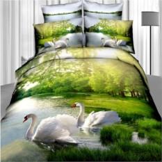 3D-постельное белье Лебединая верность