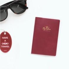 Бордовая обложка для паспорта Rainbow