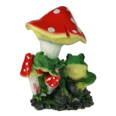 Ландшафтная фигурка Лягушка под грибом