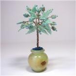 Деревья любви из бирюзы в вазочке из оникса