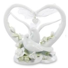 Фигурка Сердце с голубями (Pavone)