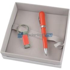 Набор Cacharel: флеш-карта USB 2.0 на 4 GB, шариковая ручка