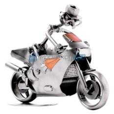 Статуэтка из металла Гоночный мотоцикл