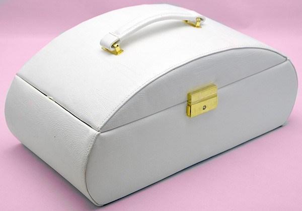 Белая шкатулка для ювелирных украшений Valise