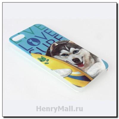 Чехол-крышка для iPhone'5 собачкой Беном