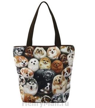 Женская сумка «Собачки Генри»