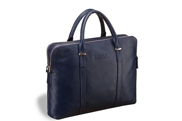 Деловая синяя сумка Brialdi Durango