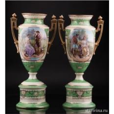 Парные фарфоровые вазы Royal Wien