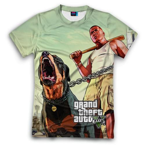 Мужская футболка 3D с полной запечаткой GTA