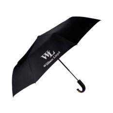 Черный полуавтоматический складной зонт Liberty