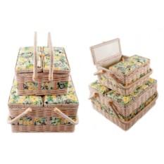 Набор нежно-кремовых шкатулок для рукоделия