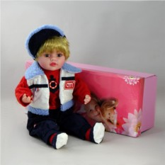 Декоративная виниловая кукла-мальчик