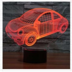 3D лампа Машинка