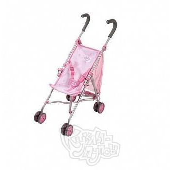 Baby born Коляска-трость (розовая с сеткой)