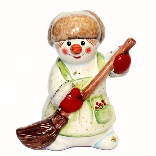 Фигурка Снеговик с метлой