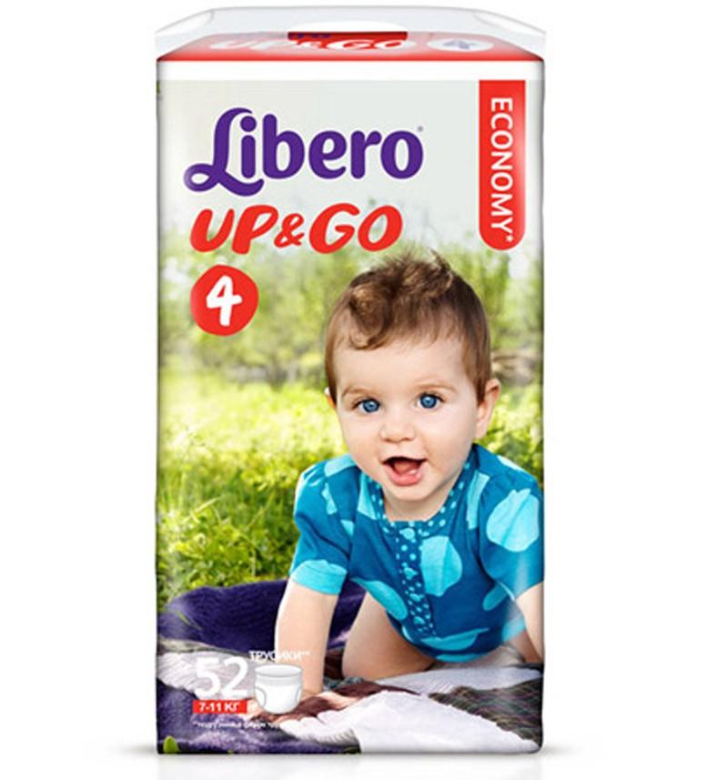 Трусики-подгузники Libero UP&GO Maxi Jumbo (7-11 кг) 52 шт.