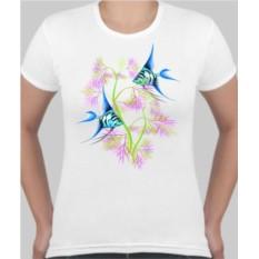 Женская футболка Аквариумные рыбки