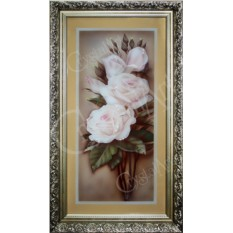 Картина с кристаллами Swarovski Белая Роза