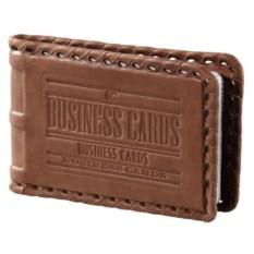 Кожаная карманная визитница на 32 карточки