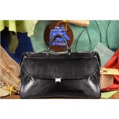 Черная кожаная дорожная сумка коллекции G.Ferretti
