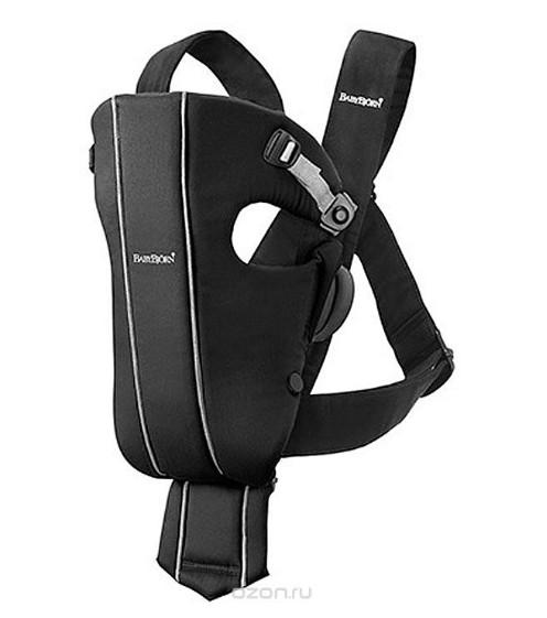 Черный рюкзак-кенгуру BabyBjorn Spirit