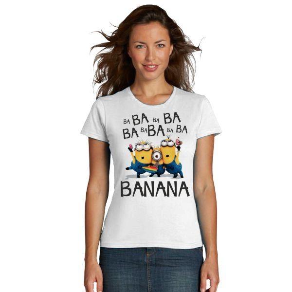 Женская футболка Миньоны, banana