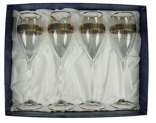 Набор бокалов для шампанского на 4 персоны