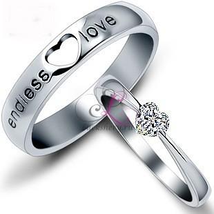 Кольца для пары, посеребреные