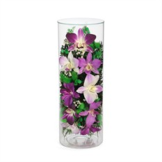 Букет-композиция из натуральных орхидей в стекле