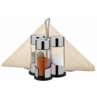 Набор соль-перец-паприка-салфетки CLUB