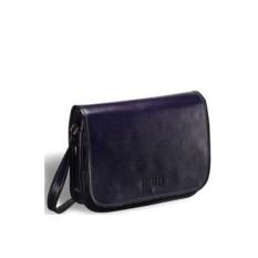 Темно-синяя кожаная сумка через плечо Brialdi Cambridge