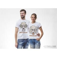 Парные футболки Сила в кудрях
