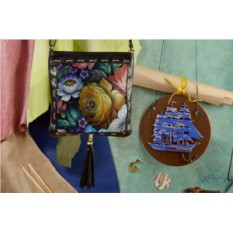 Сумка-планшет с принтом  Цветы Хохломы