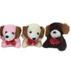 Мягкая игрушка-брелок Собачка с бантиком