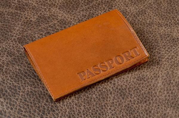 Обложка для паспорта и автодокументов Passport (рыжая)
