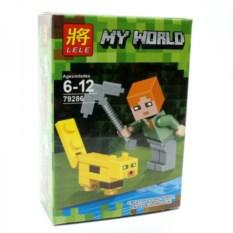 Конструктор Lele Minecraft Алекс и оцелот