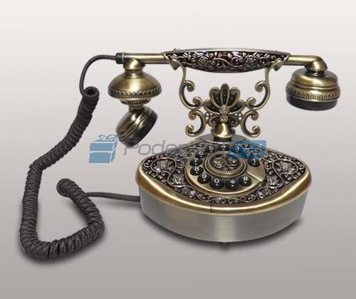 Кнопочный ретро-телефон Цветок