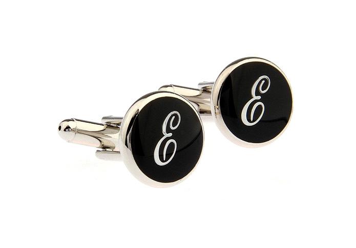 Черные запонки Буква Е