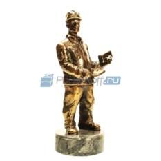Статуэтка из латуни «Строитель-каменщик»