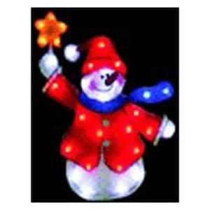 Световое панно «Снеговик со звёздочкой»