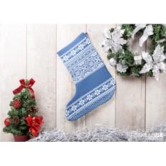 Носок для подарков Зимняя сказка (цвет — синий)