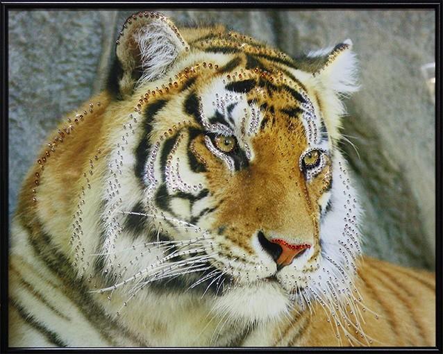 Картина с кристаллами Swarovski Амурский тигр