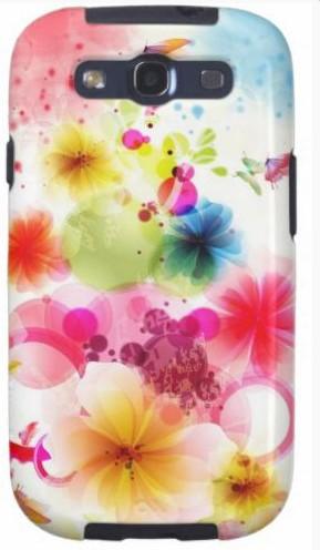 Пластиковая 3D накладка Flower для Samsung S3 i9300