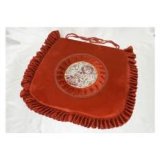 Оранжеавя подушка-сидушка из гобелена для стульев
