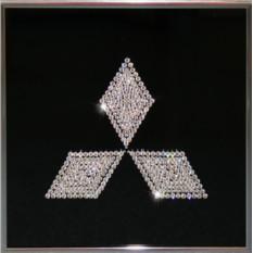 Картина с кристаллами Сваровски Mitsubishi