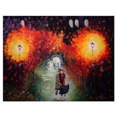 Картины по номерам «Свидание под дождем»
