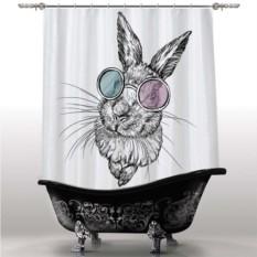 Шторка для ванны Заяц