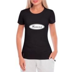 Черная женская футболка Мое имя
