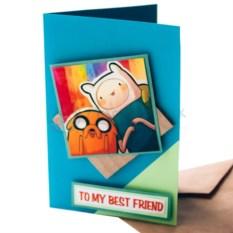 Конверт для путешествий Adventure Time To my best friend