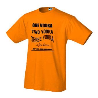Футболка One Vodka, Two Vodka...